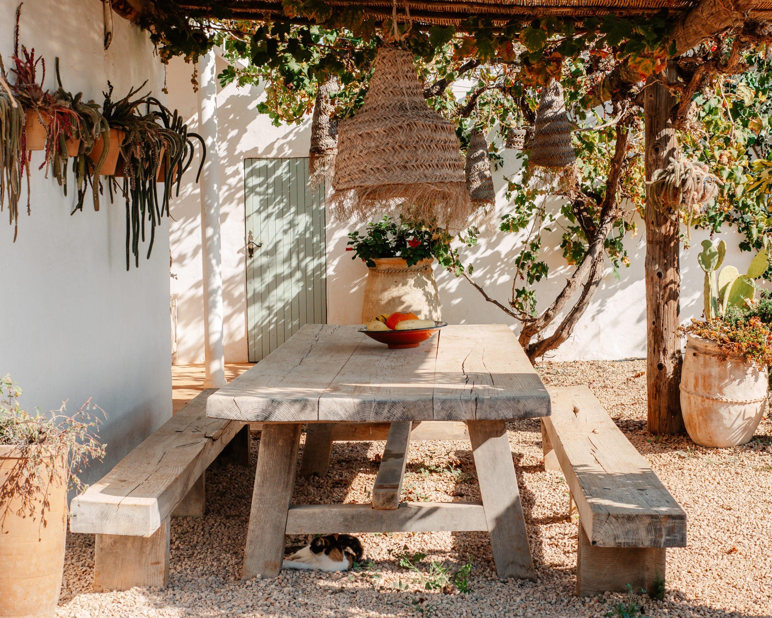 table au soleil